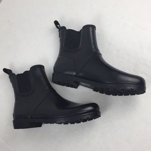 Cole Hahn Ankle Rain Winter Rubber Boots Black 8